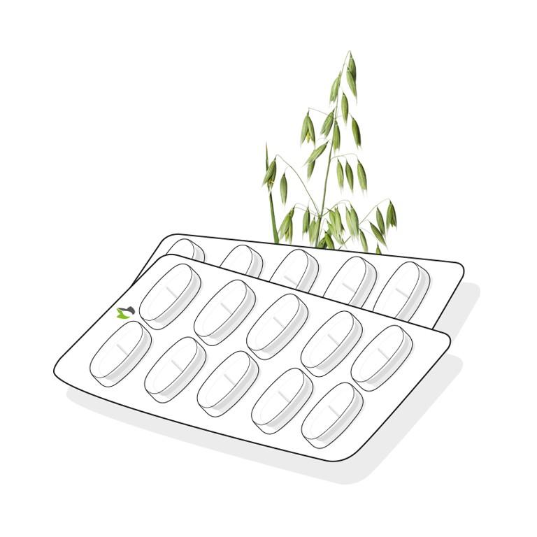 Green oat herb tablet